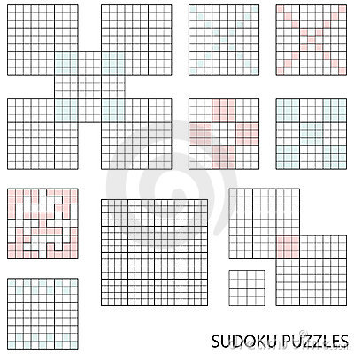Free Sudoku Templates Stock Photography - 17369872