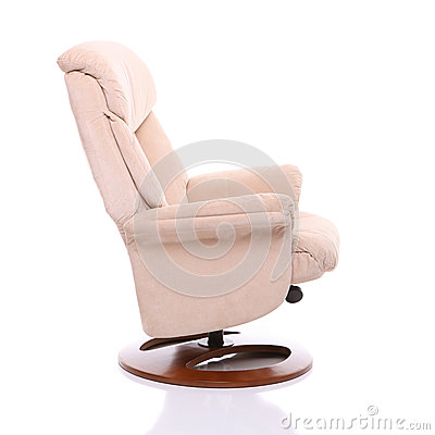 Suede fabric recliner chair