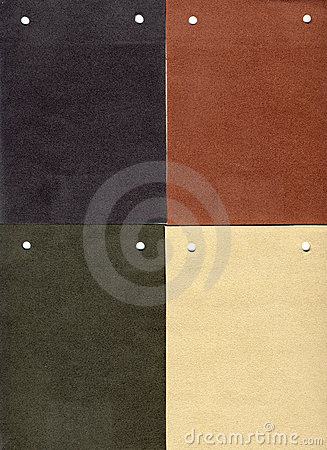 Suede: four genuine samples