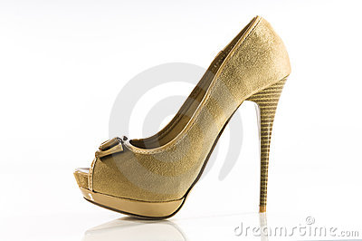 Suede peep-toe stiletto high heel shoe
