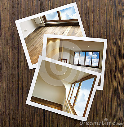 Suelo y ventanas Polaroid-De madera