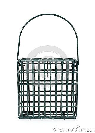 Suet cage for feeding wild birds