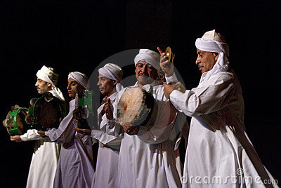 SUFI WHIRLING DERVISHES, CAIRO, EGYPT Editorial Stock Image