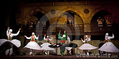 SUFI WHIRLING DERVISHES, CAIRO, EGYPT Editorial Photography