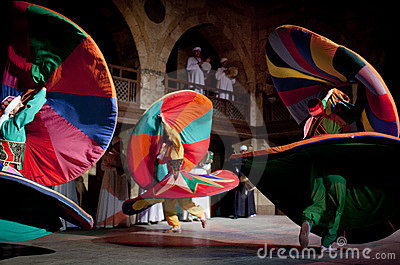 SUFI WHIRLING DERVISHES, CAIRO, EGYPT Editorial Photo