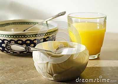 Sugar bowl at breakfast