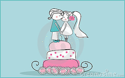 Sugar bride and groom