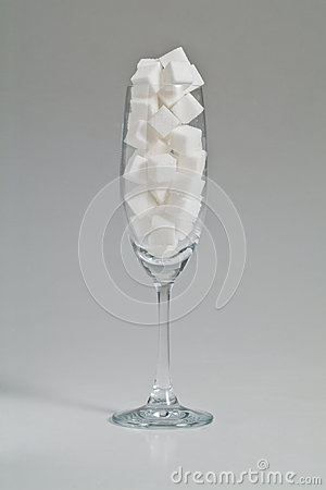 Sugar in glass