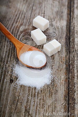 Free Sugar In A Spoon Stock Image - 52554701