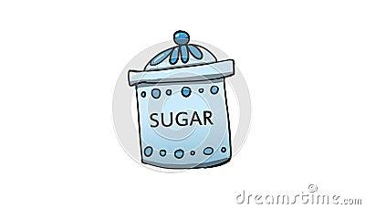 Sugar jar illustration Cartoon Illustration
