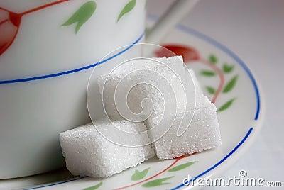 Sugar lump sugar.