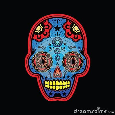 Sugar skull colored version
