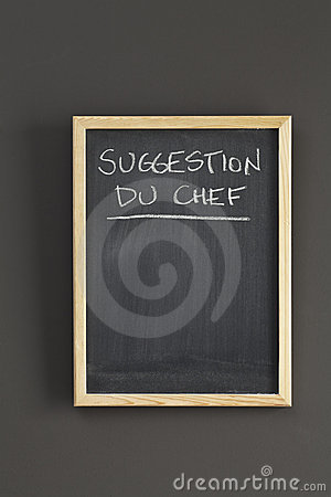 Suggestion du chef on blackboard