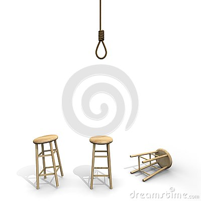 Suicide knot with stool