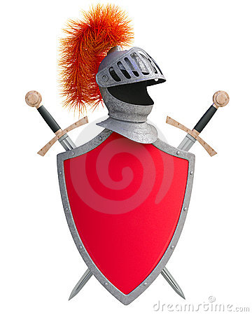 Suit of armor and shield