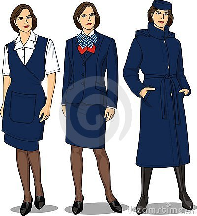 Suit female for the stewardess