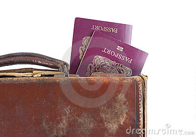 Suitcase with british passports