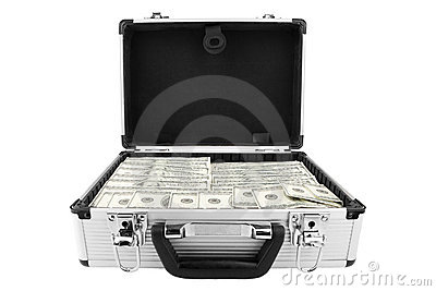 Suitcase of dollars