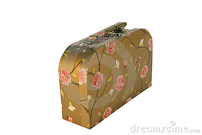 Suitcase with flowers