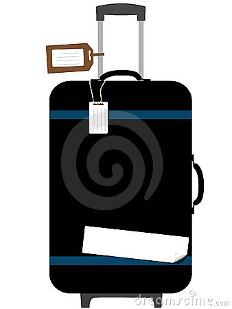 Suitcase Pull Handle copyspace Luggage Tags Sticke