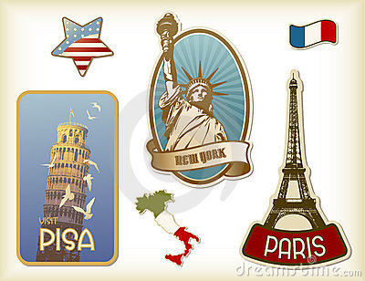 Suitcase-stickers