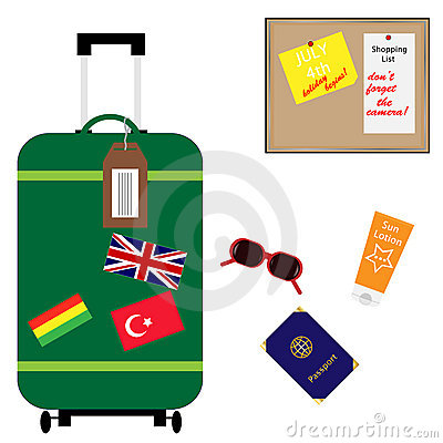 Suitcase Vacation Summer Holiday Accessories