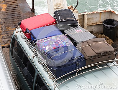 Suitcases on the car