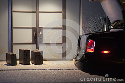 Suitcases At Doorway