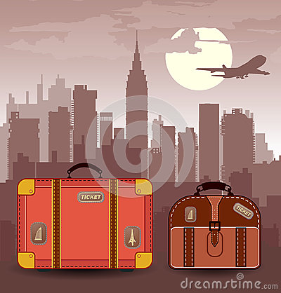 Suitcases for travel