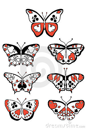 Suits butterflies