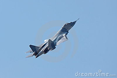 Sukhoi PAK FA T-50 prototype Editorial Photo
