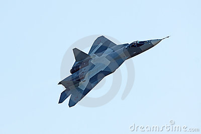 Sukhoi PAK FA T-50 prototype, top view Editorial Stock Image
