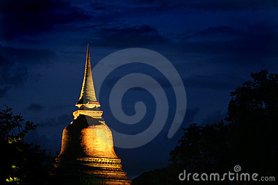 Sukhothai Thailand at night