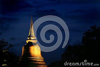 Sukhothai Thailand at night