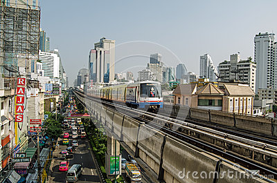 Sukhumvit Road, Bangkok Editorial Photo