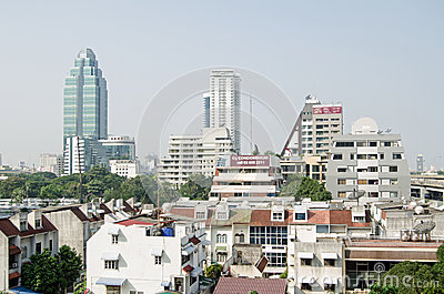 Sukhumvit skyline, Bangkok Editorial Photo