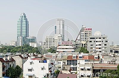 Sukhumvit skyline, Bangkok Editorial Photo