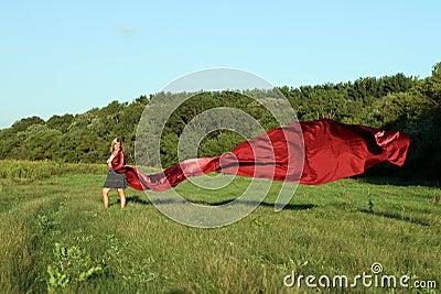Sukienna czerwień