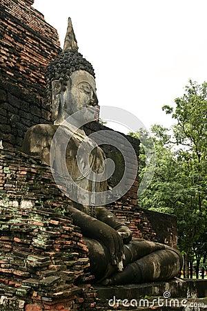 Free Sukothai Large Temple Buddha Side View Thailand Royalty Free Stock Photography - 1135687