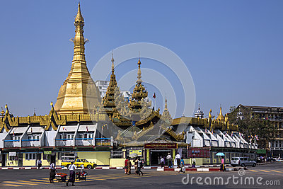 Sule Pagoda - Yangon - Myanmar (Burma) Editorial Photography