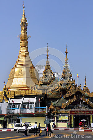 Sule Pagoda - Yangon - Myanmar Editorial Stock Photo