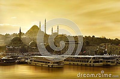 Suleymaniye mosque Golden Horn