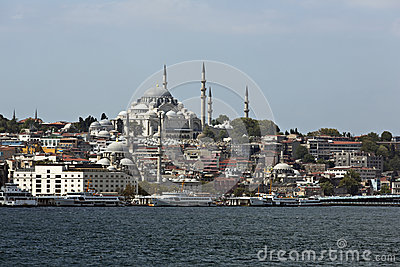 Suleymaniye Mosque from Goldenhorn