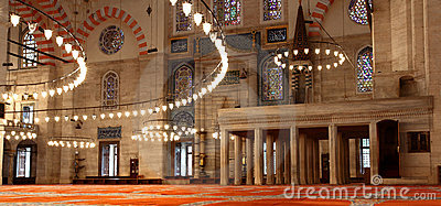 The Suleymaniye Mosque in Istanbul (Turkey)