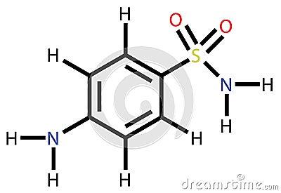 Sulfanilamide structural formula