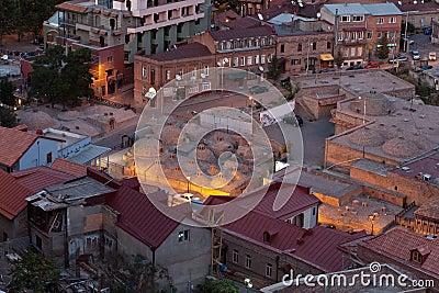Sulfur baths in Tbilisi.