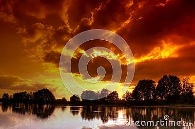 Sulfur sky