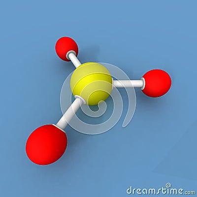 Sulfur trioxide molecule