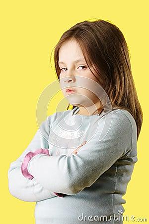 Sulk little girl