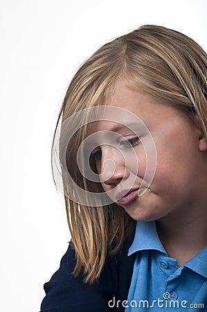 Sulking child